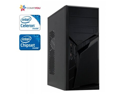 Системный блок офисный ПК CompYou Office W170 (Intel Celeron-J1800 2.41GHz, 2Gb DDR3, 250Gb, 450W, Без ОС, CY.336903.W170)
