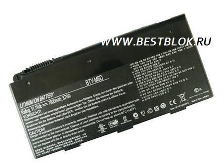 Аккумулятор (батарея) для ноутбука MSI GT60 GX60 GT70 MS-1762 MS-1763 GX70 MS-176K BTY-M6D (7800 mAh)