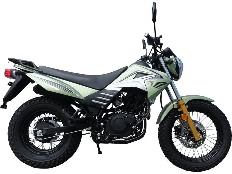 Мотоцикл Racer FORESTER 4-х тактный объем 200.0 куб. см. 17 л.с. макс. 110 км.ч. (Зелёный) RR200LT-GREEN