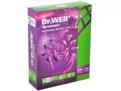 Программный продукт Dr.Web Pro(Антивирус) для Windows, 2 ПК на 1 год, картонная упаковка