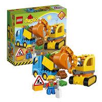 Конструктор Lego Duplo 10812 Конструктор Лего Дупло Грузовик и гусеничный экскаватор