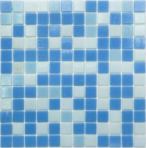 Мозаика NSmosaic Econom series MIX20 бело-сине-голубой (сетка) чип25x25 327x327 (м²)