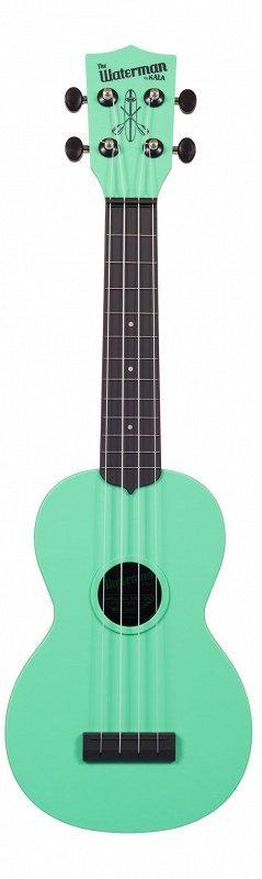 WATERMAN by KALA KA-SWB-GN Укулеле, форма корпуса - сопрано, материал - АБС пластик, цвет - мятный матовый, чехол в комплекте
