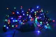 Электрогирлянда нить разноцветная 200 разноцветных LED огней для улицы, контроллер, 20м, зеленый провод, SNOWHOUSE LD200C-GM