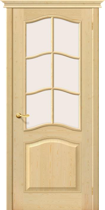 Межкомнатная дверь Белорусские двери М7 со стеклом Без отделки из массива, Со стеклом / 700x2000 / Полотно
