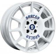 Sparco Terra 7.5x17 5x114.3 ET 45 Dia 73.1 WHITE BLUE LETTERING - фото 1