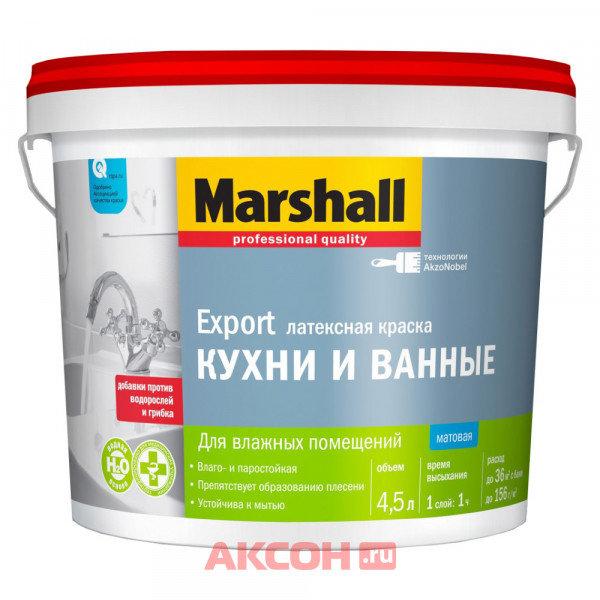 краска marshall для кухни и ванны в/э wo 4,5л