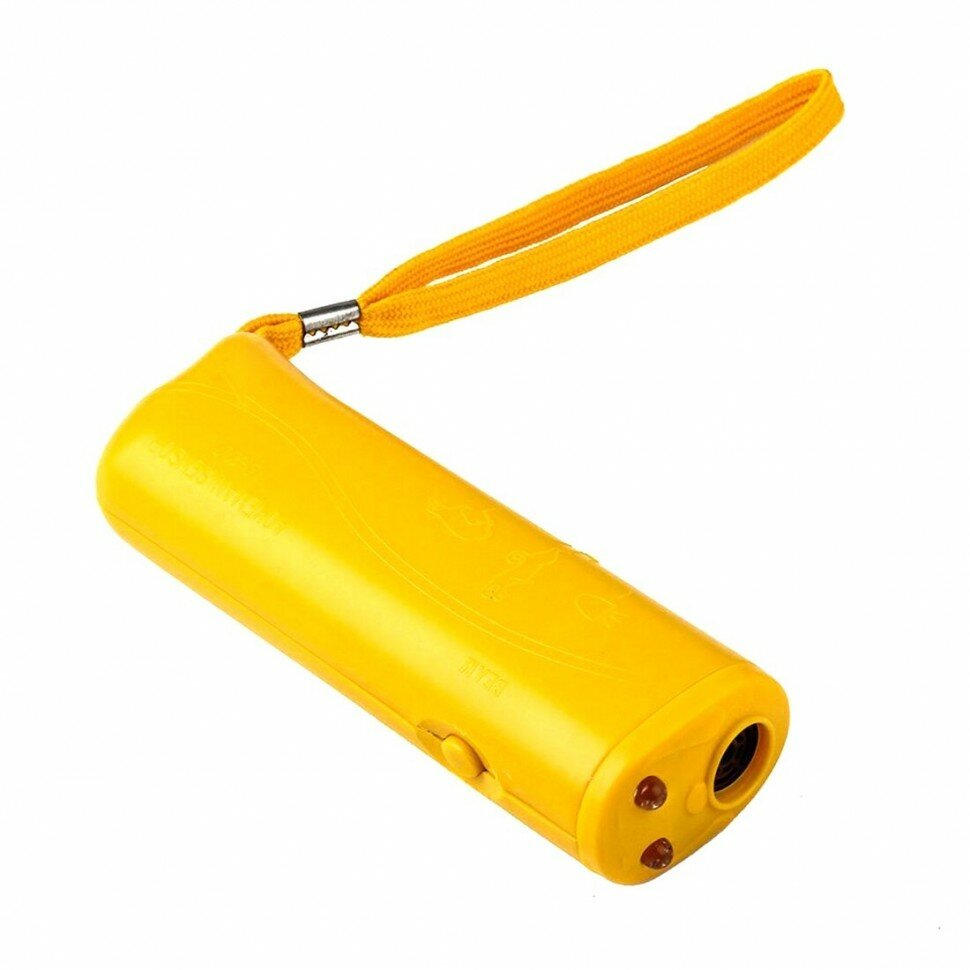 Ультразвуковой отпугиватель собак, желтый