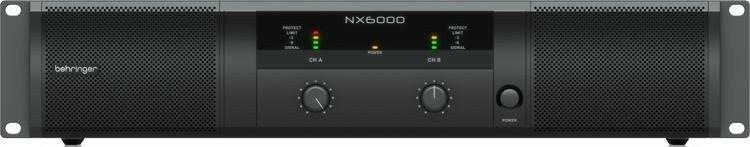 Behringer NX6000 усилитель 2-канальный. Мощность пик. 2 x 3000Вт•4?/1600Вт•8?, Speakon/комбо-XLR, кр