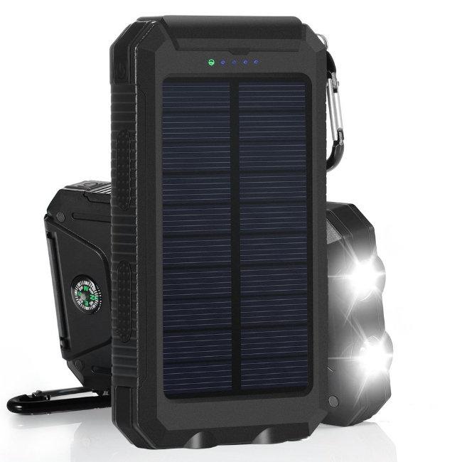 Power Bank на солнечных батареях Solar Charger 20000 mah (черный)