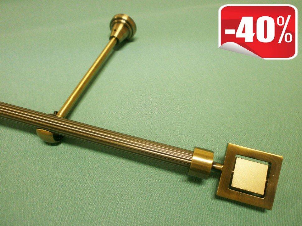 Карнизы Мастер Плюс Карниз рифленый однорядный Квадрат, диаметром 16 мм