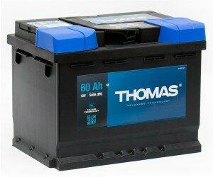 Автомобильный аккумулятор THOMAS 60R 540А обратная полярность 60 Ач (242x175x190)