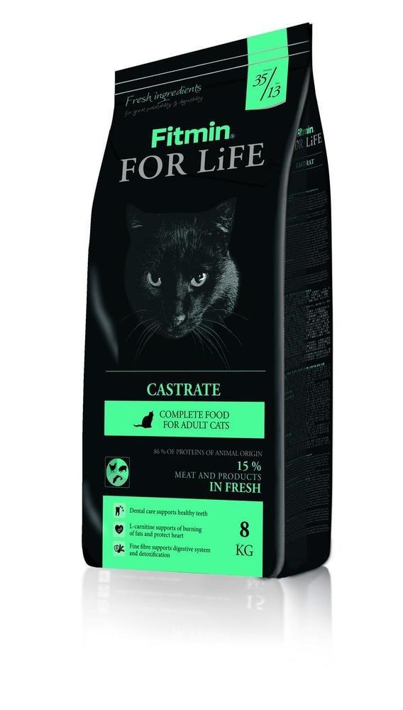 Сухой корм для кастрированных кошек Fitmin cat For Life Castrate 8кг