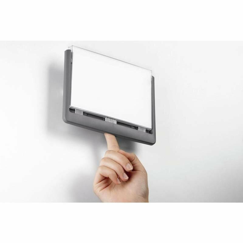 Информационная табличка настенная Durable 4866-37 серая 21x15 см