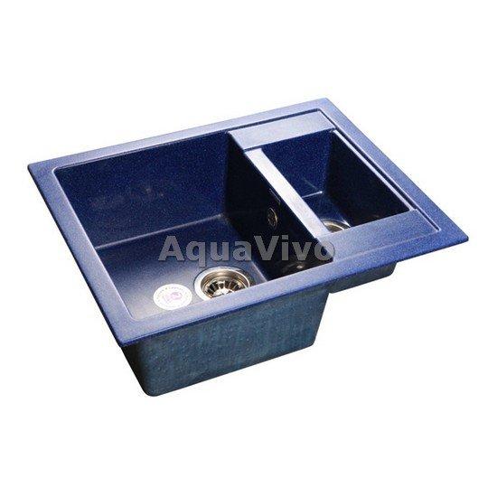 Кухонная мойка GranFest Quadro GF-Q--610K цвет синий