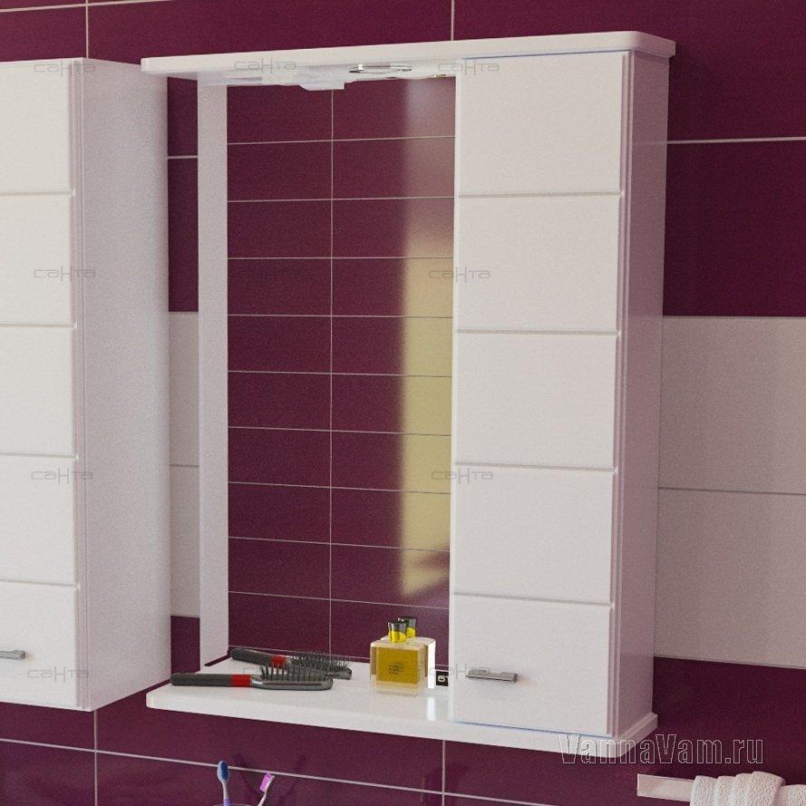 Зеркало-шкаф СанТа Омега 60 R 107004