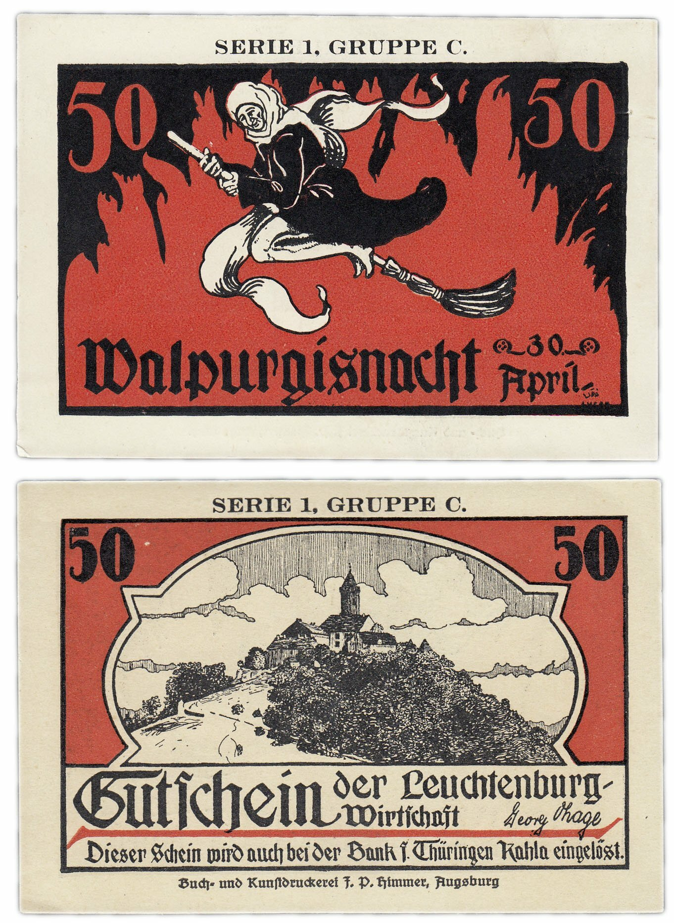 Банкнота Германия (Тюрингия: Кала) 50 пфеннигов 1920-21