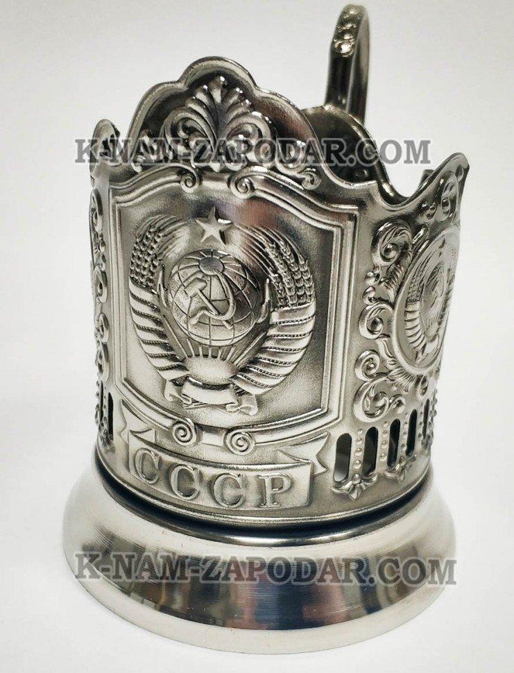 Подстаканник никелированный Герб СССР