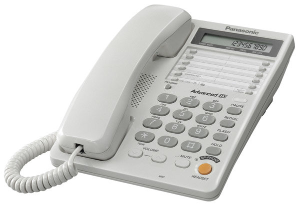 Телефонный аппарат Panasonic KX-TS2365RU white