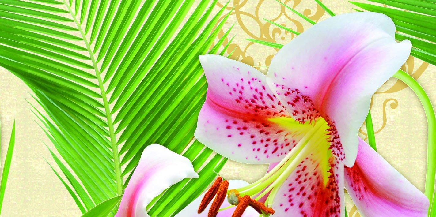 Декоративные элементы БЕЛЛЕЗА/BELLEZA Декор стеклянный Lily многоцветный