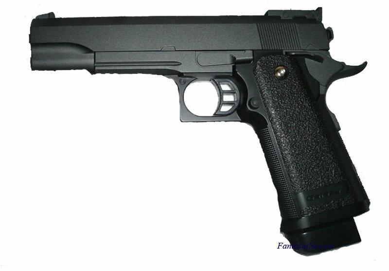 Пистолет металлический на 6 мм пульках металл COLT1911PD Galaxy G6 игрушечный детский железный страйкбольный пружинный кольт на шариках
