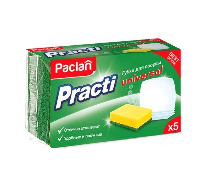 Средства по уходу за кухней Paclan 10390 губки для посуды 5шт 1+1