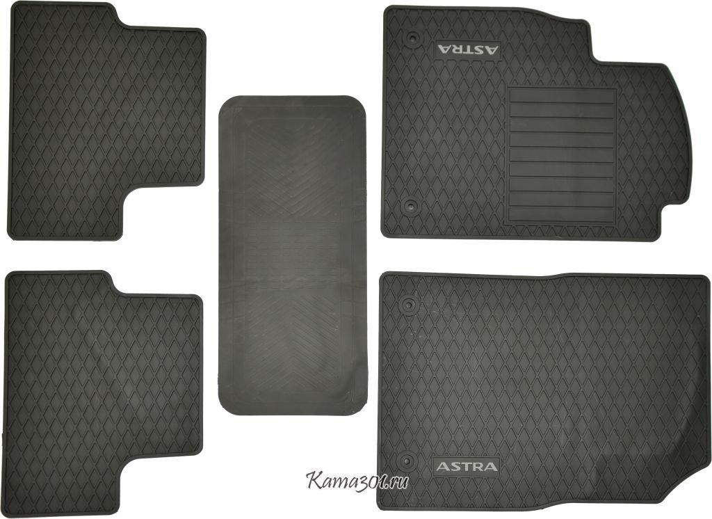 Комплект ковриков OPEL-ASTRA (2008-) латексный ПВХ