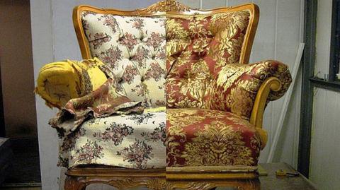 Реставрация мягкой мебели (перетяжка кресла)