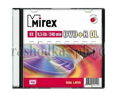 Диск Slim case (box) DVD+R Mirex 8.5 Gb 8x Dual Layer (UL130062A8S)