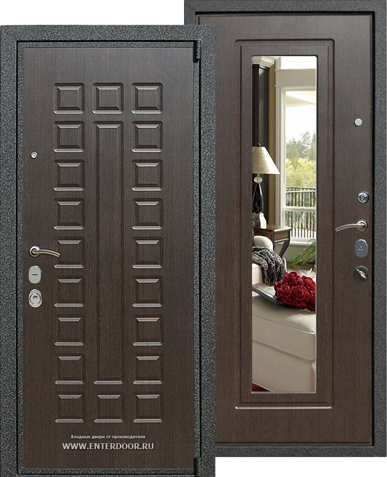 железный двери и установка