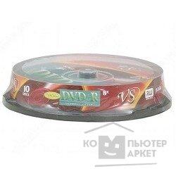 Vs Диски DVD+R 8.5Gb 8-х Double Layer, 10 шт, Cake Box Ink Print
