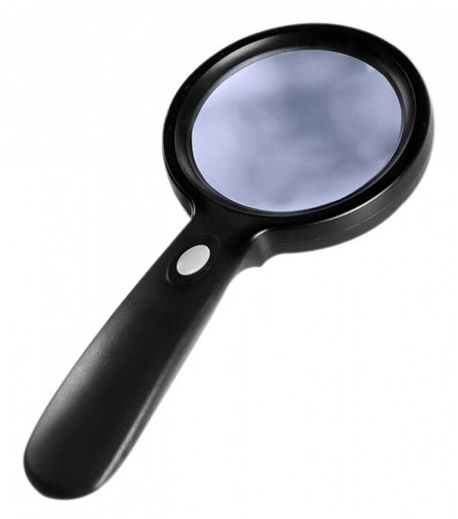 Лупа с LED подсветкой Magnifier 10х 90мм ZB-7790-12