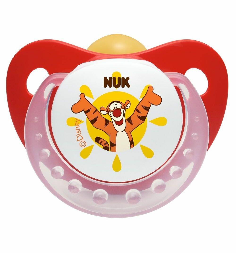 Пустышка латексная ортодонтическая NUK Disney Winnie the Pooh Soother 0-6 м (1 шт)
