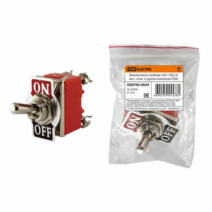 TDM 1021 (ТВ1-2)) выкл-тумблер вкл- откл 1 гр конт. SQ0703-0026