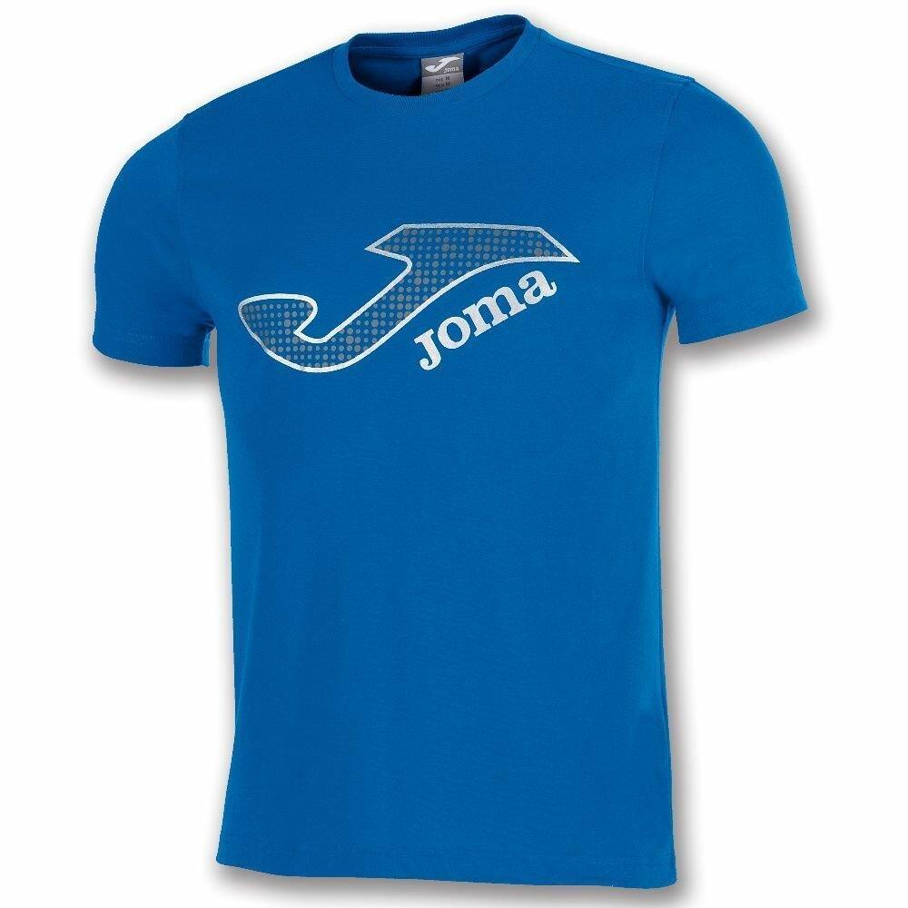 Футболка Joma Combi (детская), синий, 152, полиэстер - 65%, хлопок - 35%