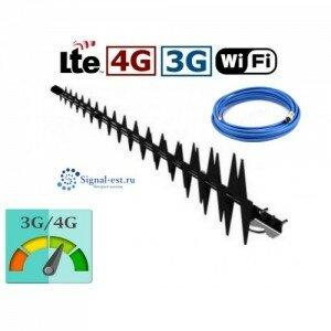 Антенна Ураган 20 дб усиление GPRS, EDGE, 3G, 4G. Усилитель интернета