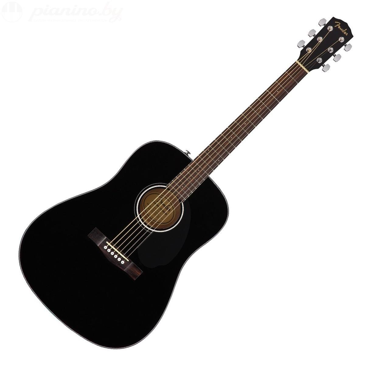 Гитара акустическая FENDER CD-60S BLACK