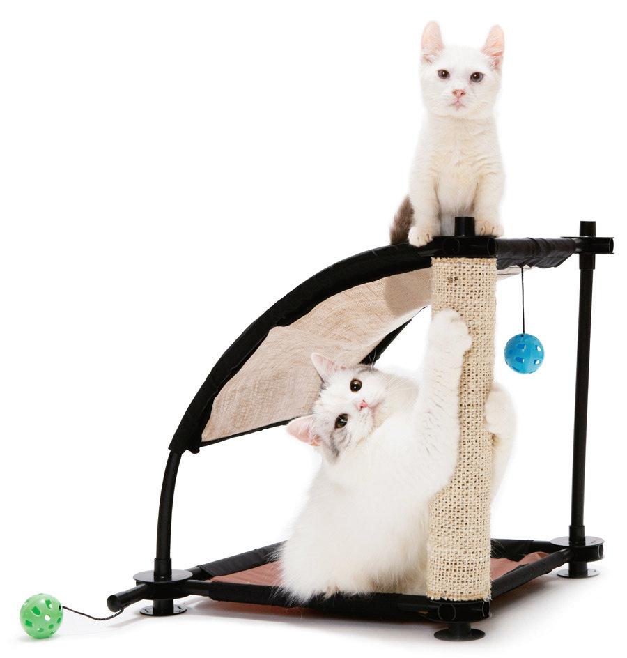 """Kitty City Игровой комплекс с когтеточкой для кошек """"Белая гора"""", 44x45x45 см, сизаль (1,18 кг)"""