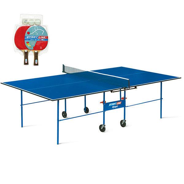 Стол для настольного тенниса Start Line Olympic с сеткой и комплектом для игры
