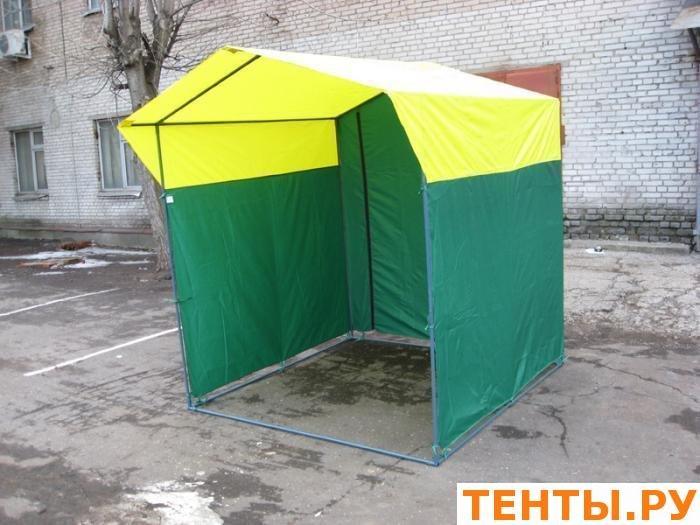 Палатка торговая, разборная «Домик» 2,0 х 2,5 из оцинкованной трубы Д 25мм. желто-зеленая