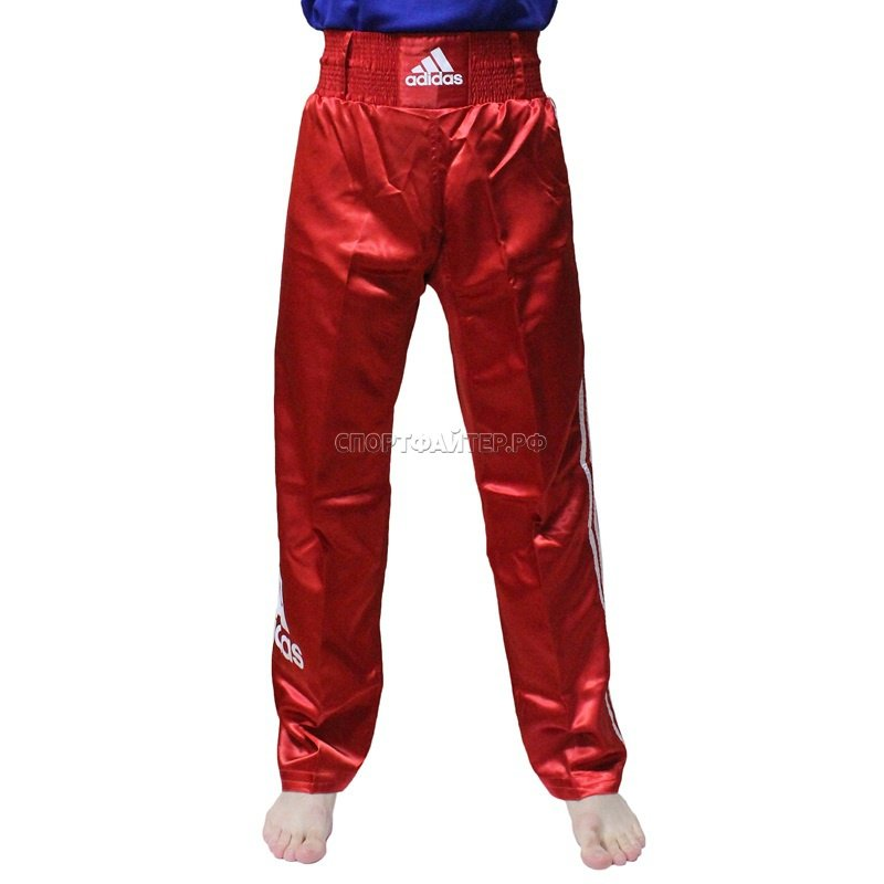 Брюки Adidas Kick Boxing Pants Full Contack - красные