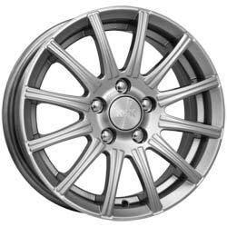 литой колесные диски K&K Сиеста 7x16 ET41 PCD5*115 (Блэк платинум (глубокий темно-серебристый цвет)) DIA 70.2