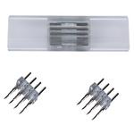 Коннектор для светодиодной ленты Ecola LED strip 220V connector комплект для упрощенного соединения лента-лента 4-х конт IP68 RGB 16x8 SCNM16ESB