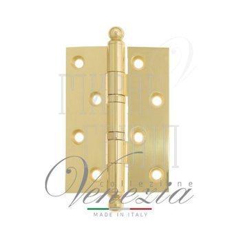 Дверные петли Venezia Collezione Петля дверная универсальная латунная Venezia CRS010 102 мм полированная латунь