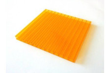 Сотовый поликарбонат POLYNEX 4мм Оранжевый (12x2,1)