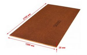 Древесно-плитные материалы (OSB, фанера) Изоплат Тепло- звукоизоляционная плита 2700х1200х25 мм (3.24 м2)