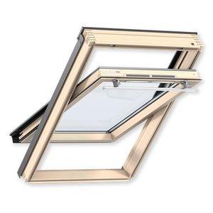 Velux Мансардное окно деревянное Optima Комфорт GLR 3073IS, ручка сверху, 55*98см