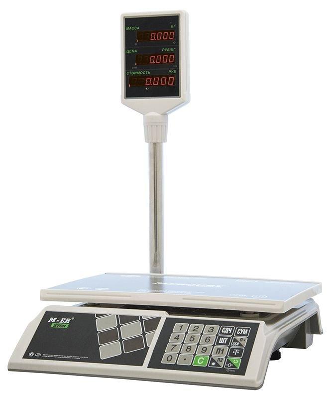Весы ME-R 326ACP-15.2 LED электронные торговые со стойкой до 15 кг