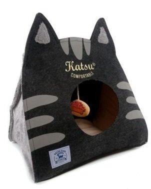 "Лежак для кошек Katsu ""Царство Морфея"" (цвет: серый), размер SM"
