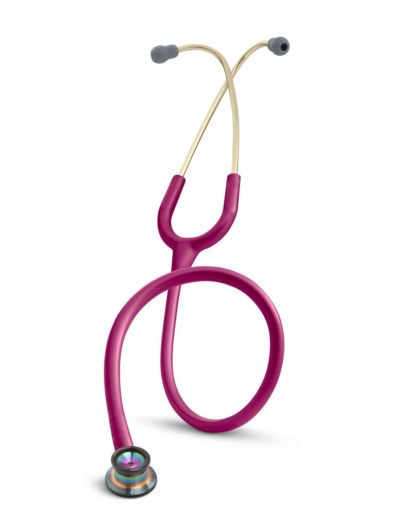 Неонатальный стетофонендоскоп 3M™Littmann Classic II Infant малиновый, радужный колокол (2157)